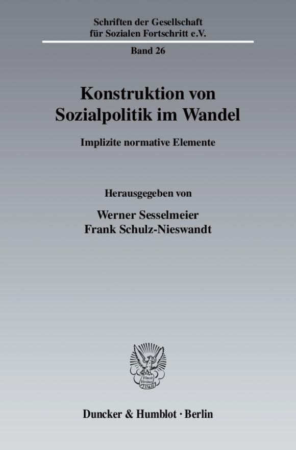 Cover Konstruktion von Sozialpolitik im Wandel