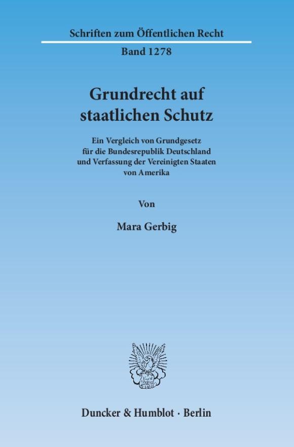 Cover Grundrecht auf staatlichen Schutz