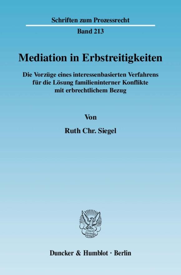 Cover Mediation in Erbstreitigkeiten
