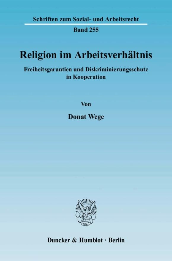Cover Religion im Arbeitsverhältnis