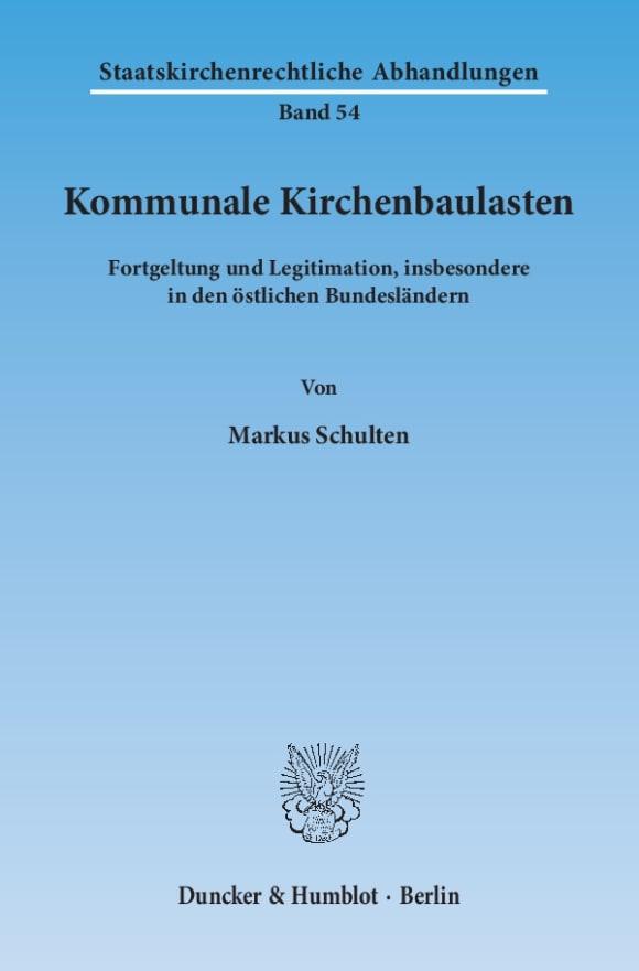 Cover Kommunale Kirchenbaulasten