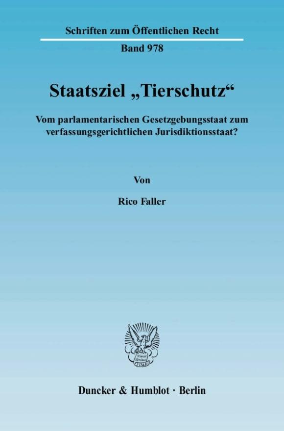 Cover Staatsziel