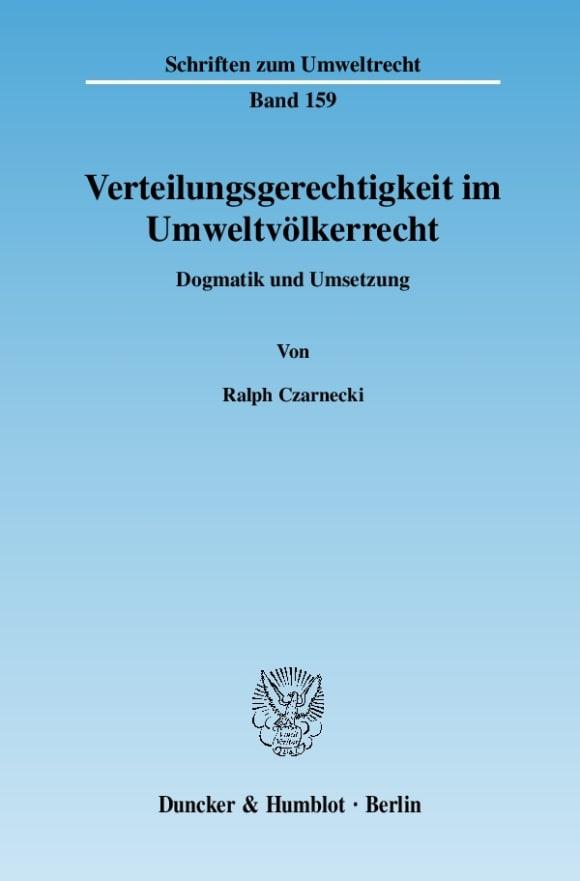 Cover Verteilungsgerechtigkeit im Umweltvölkerrecht