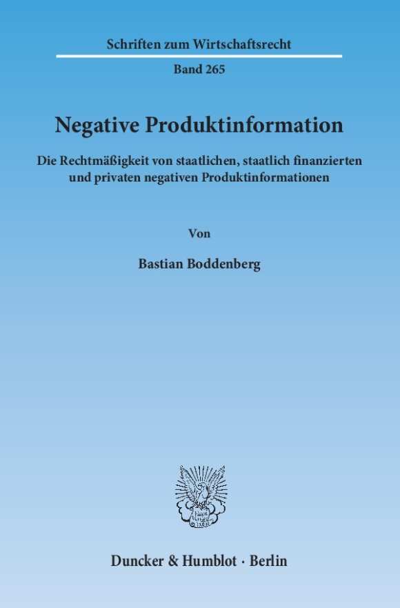 Cover Negative Produktinformation
