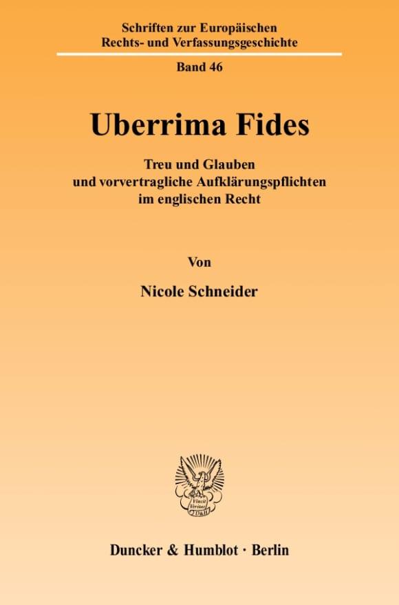 Cover Uberrima Fides
