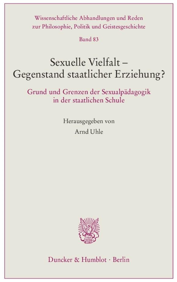 Cover Sexuelle Vielfalt – Gegenstand staatlicher Erziehung?