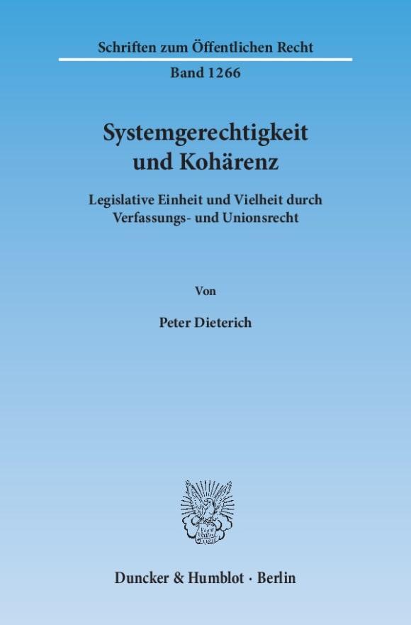 Cover Systemgerechtigkeit und Kohärenz