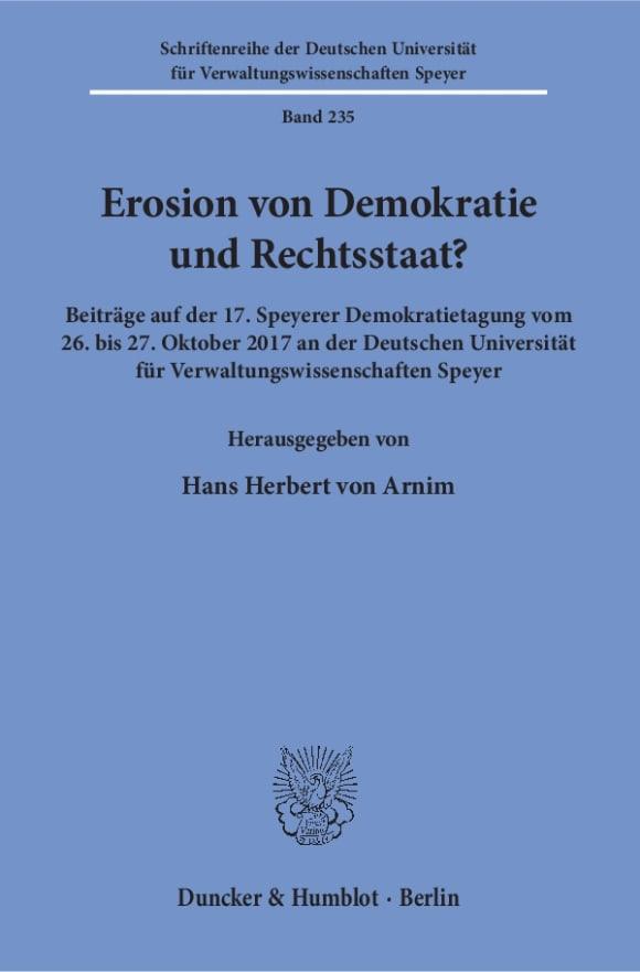 Cover Erosion von Demokratie und Rechtsstaat?