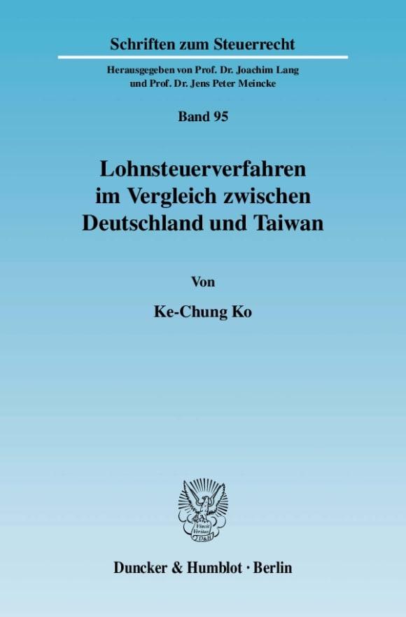 Cover Lohnsteuerverfahren im Vergleich zwischen Deutschland und Taiwan