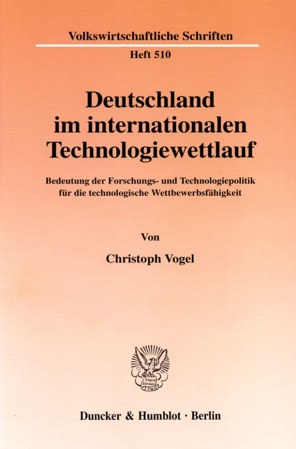 Cover Deutschland im internationalen Technologiewettlauf