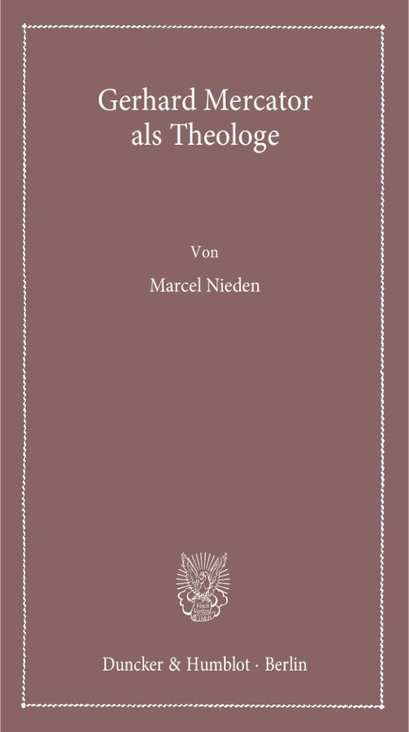Cover Gerhard Mercator als Theologe