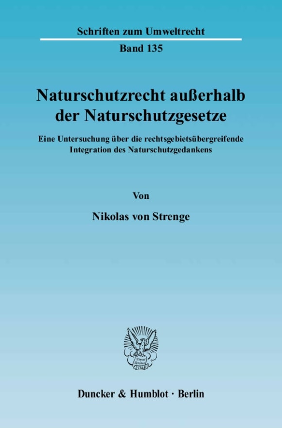 Cover Naturschutzrecht außerhalb der Naturschutzgesetze