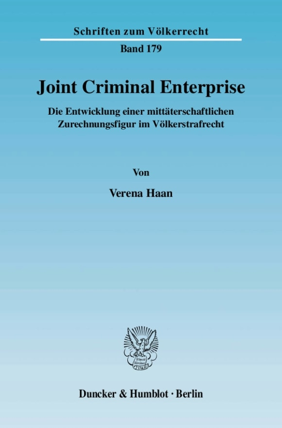 Cover Joint Criminal Enterprise
