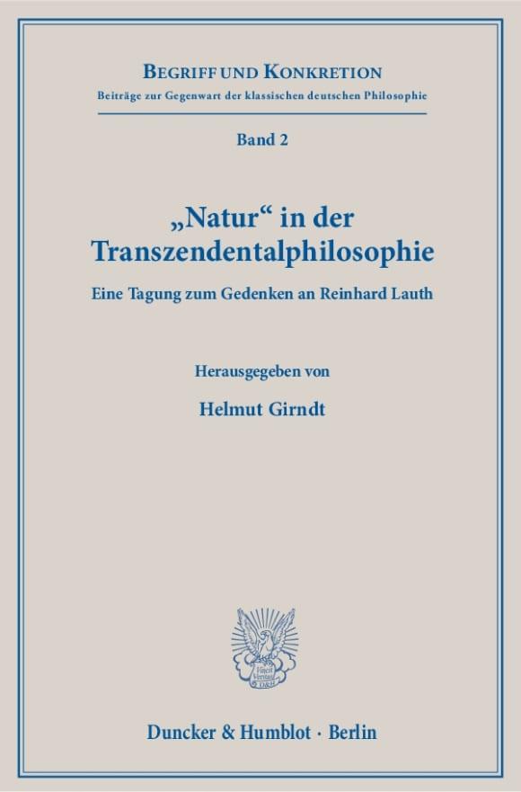 Cover »Natur« in der Transzendentalphilosophie