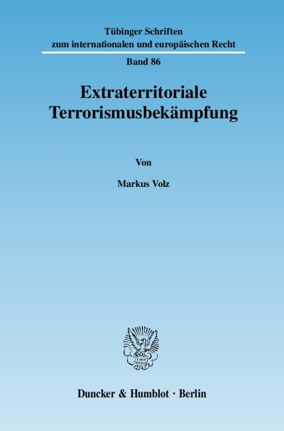 Cover Extraterritoriale Terrorismusbekämpfung