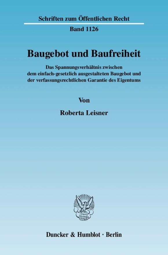 Cover Baugebot und Baufreiheit
