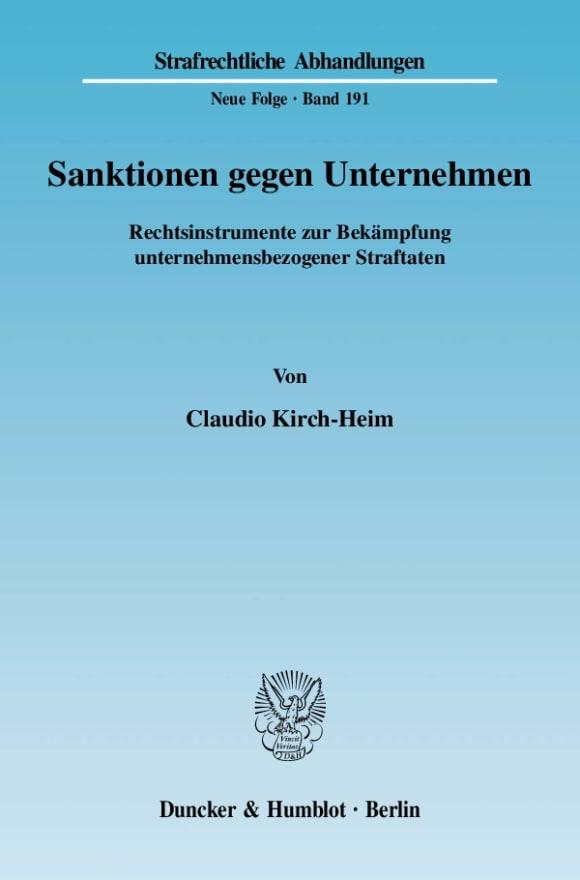 Cover Sanktionen gegen Unternehmen