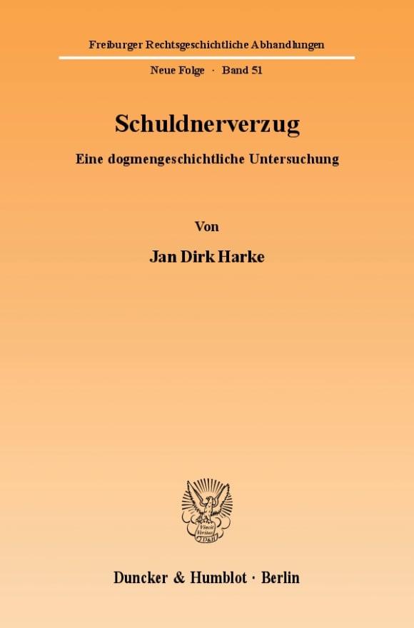 Cover Schuldnerverzug