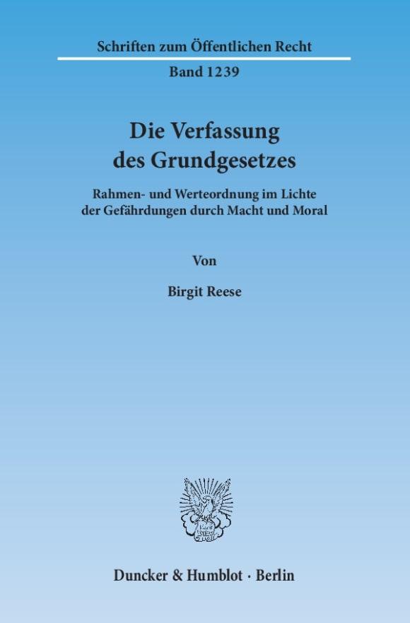 Cover Die Verfassung des Grundgesetzes