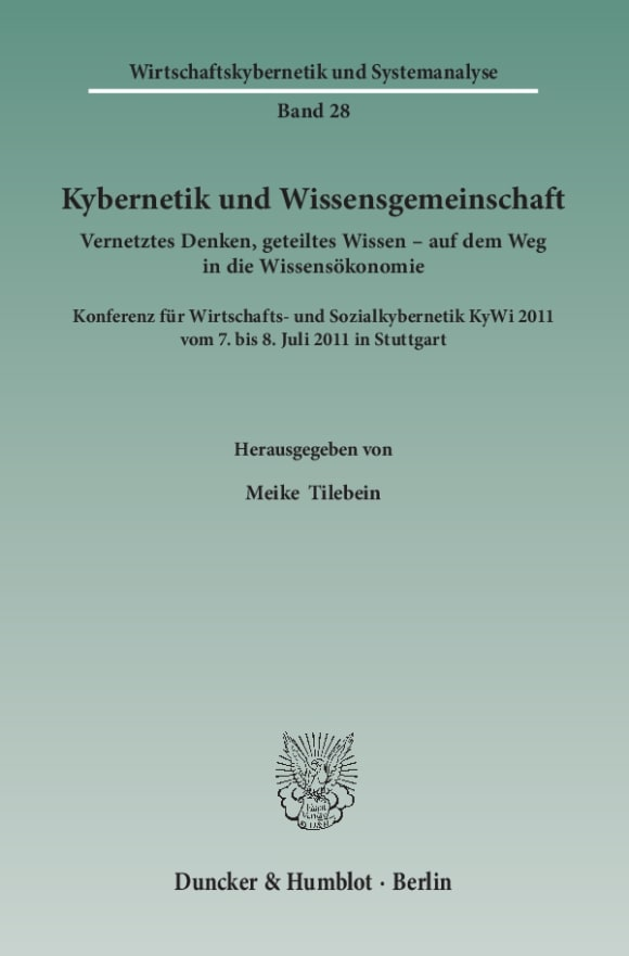 Cover Kybernetik und Wissensgemeinschaft