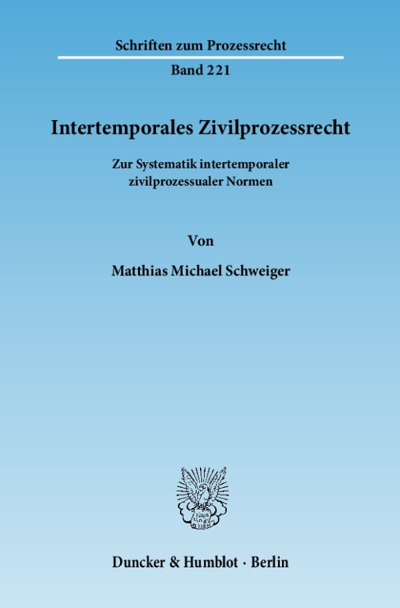 Cover Intertemporales Zivilprozessrecht
