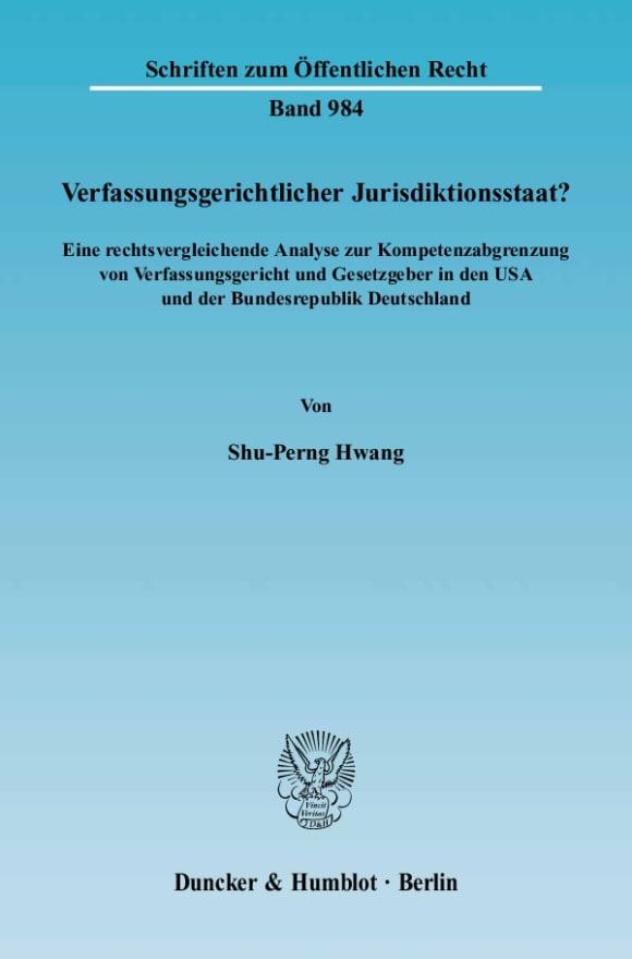 Cover Verfassungsgerichtlicher Jurisdiktionsstaat?
