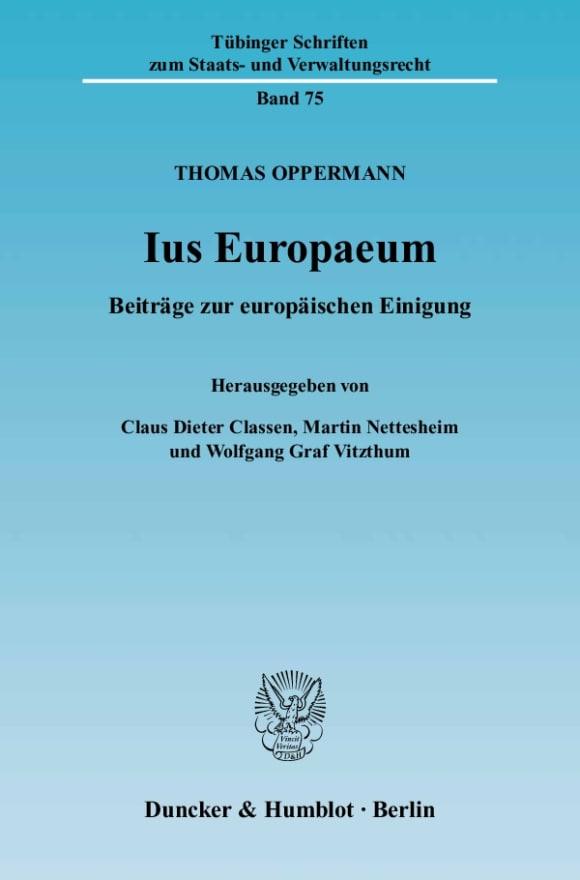 Cover Ius Europaeum
