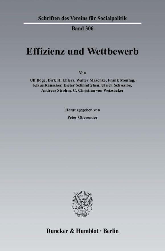 Cover Effizienz und Wettbewerb