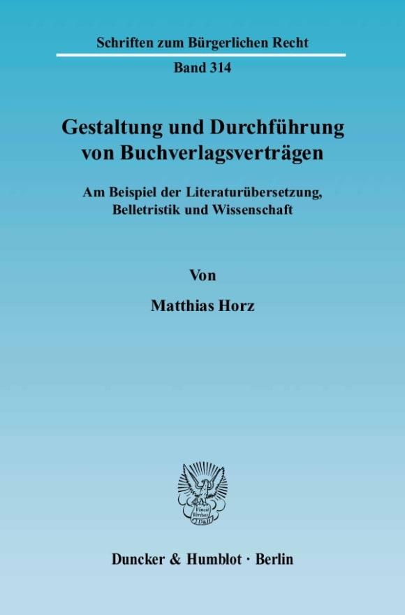 Cover Gestaltung und Durchführung von Buchverlagsverträgen