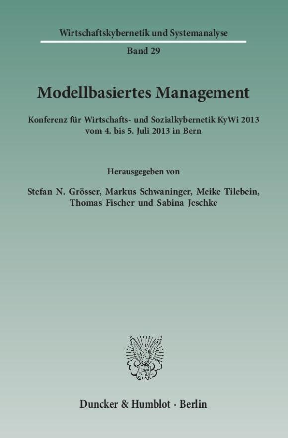 Cover Modellbasiertes Management