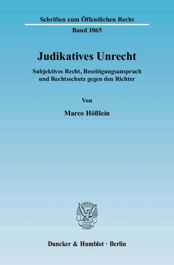 Cover Judikatives Unrecht