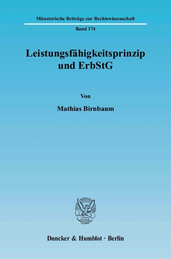 Cover Leistungsfähigkeitsprinzip und ErbStG