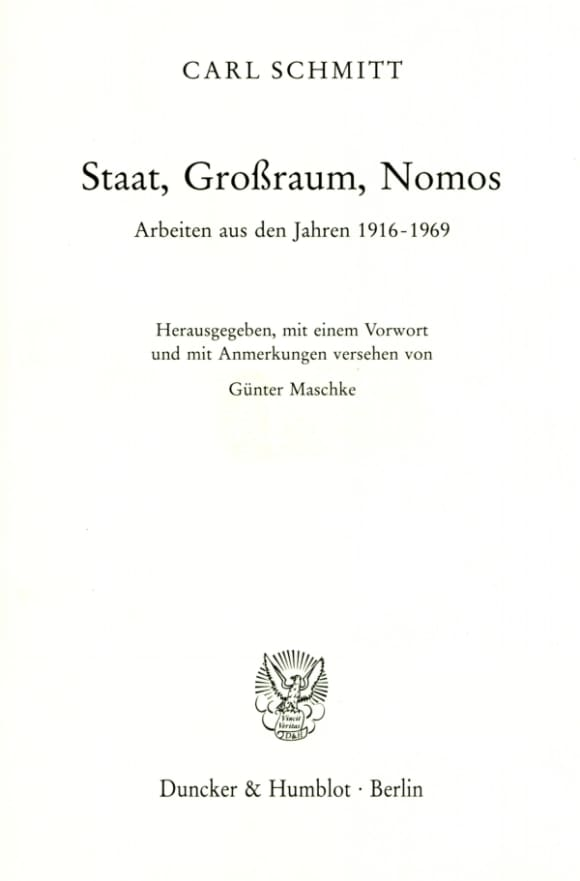 Cover Staat, Großraum, Nomos