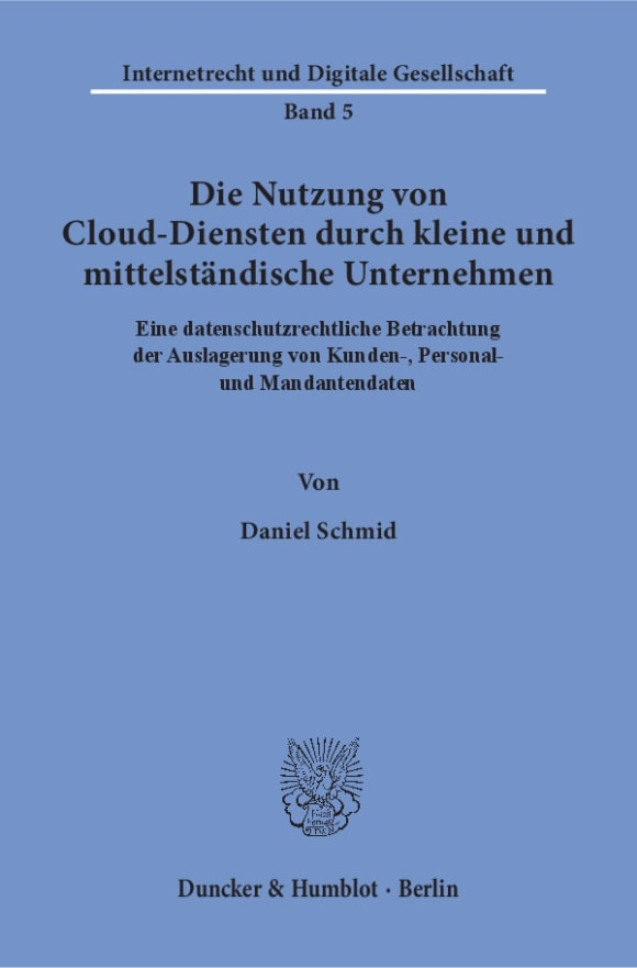 Cover Die Nutzung von Cloud-Diensten durch kleine und mittelständische Unternehmen
