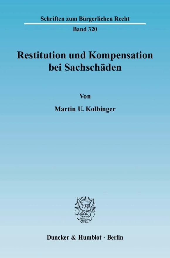 Cover Restitution und Kompensation bei Sachschäden
