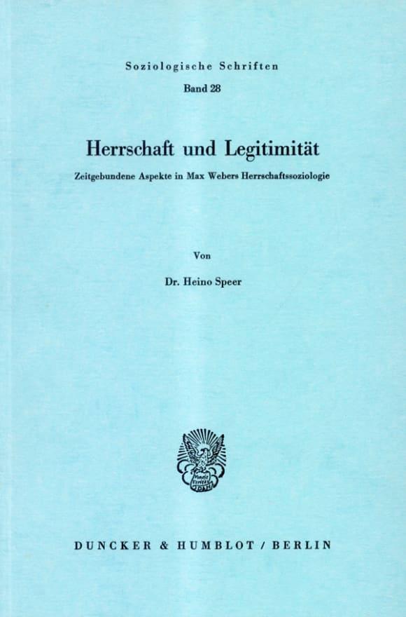 Cover Herrschaft und Legitimität