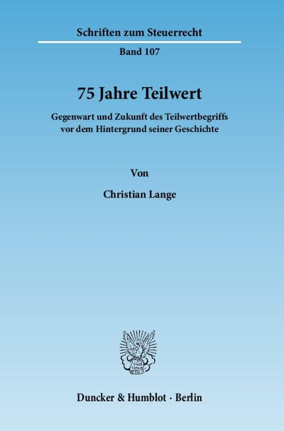 Cover 75 Jahre Teilwert