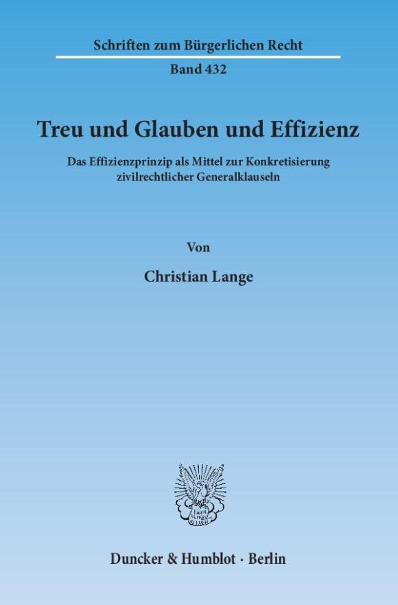 Cover Treu und Glauben und Effizienz