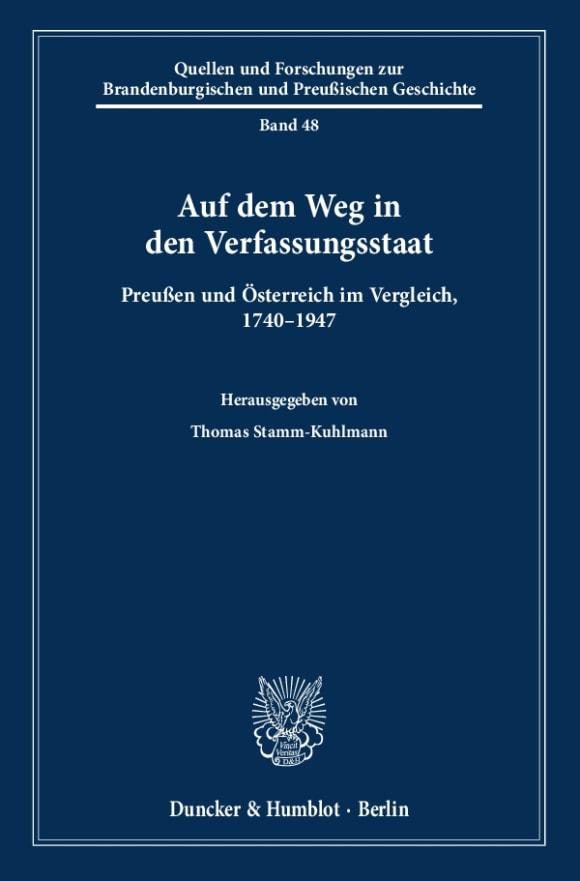 Cover Auf dem Weg in den Verfassungsstaat