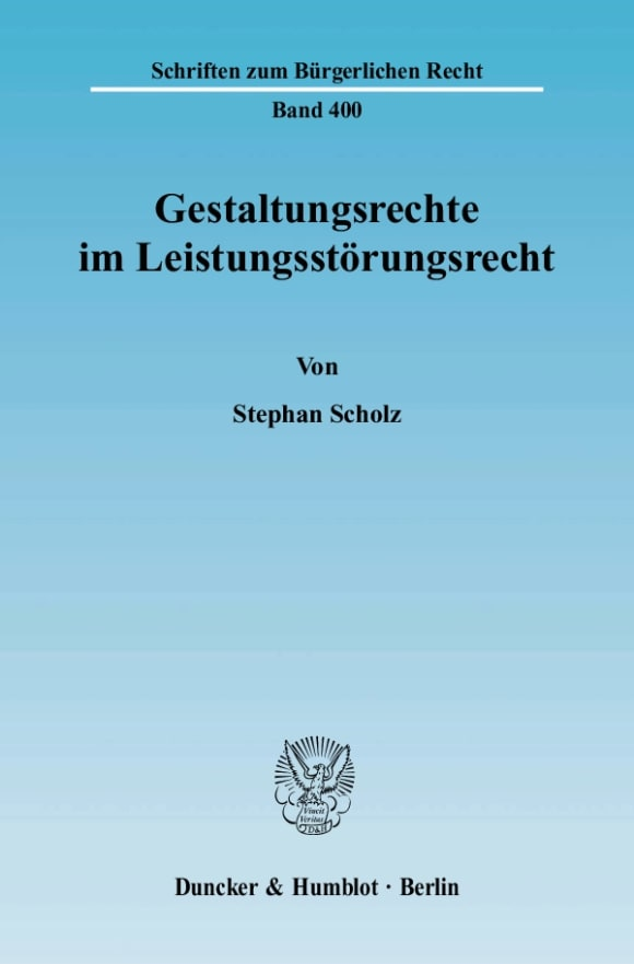 Cover Gestaltungsrechte im Leistungsstörungsrecht