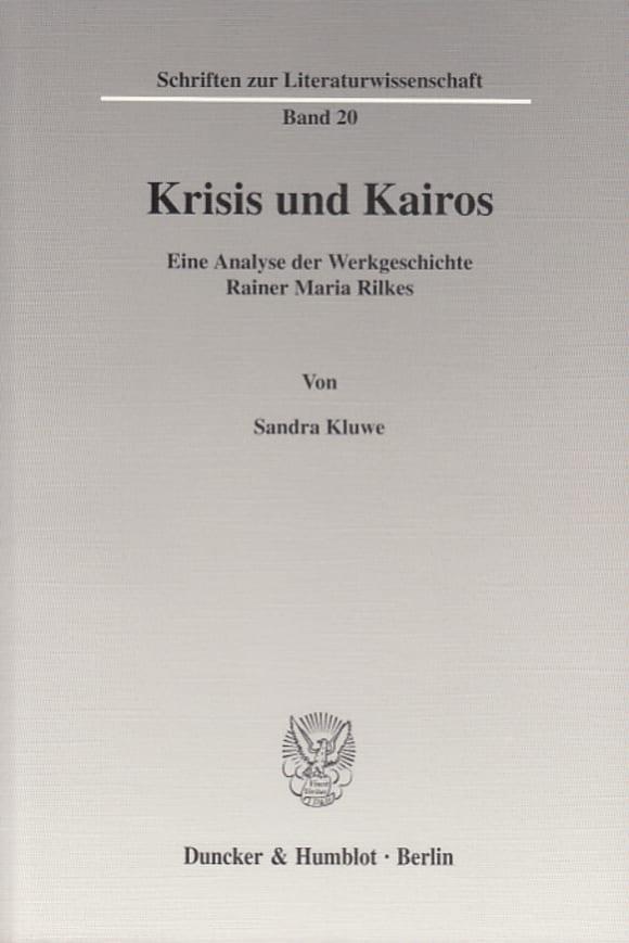 Cover Krisis und Kairos