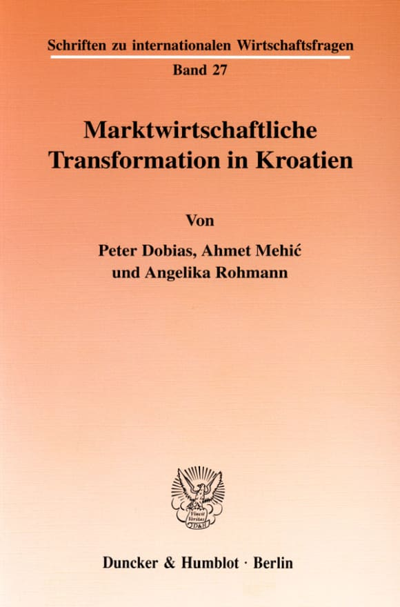 Cover Marktwirtschaftliche Transformation in Kroatien