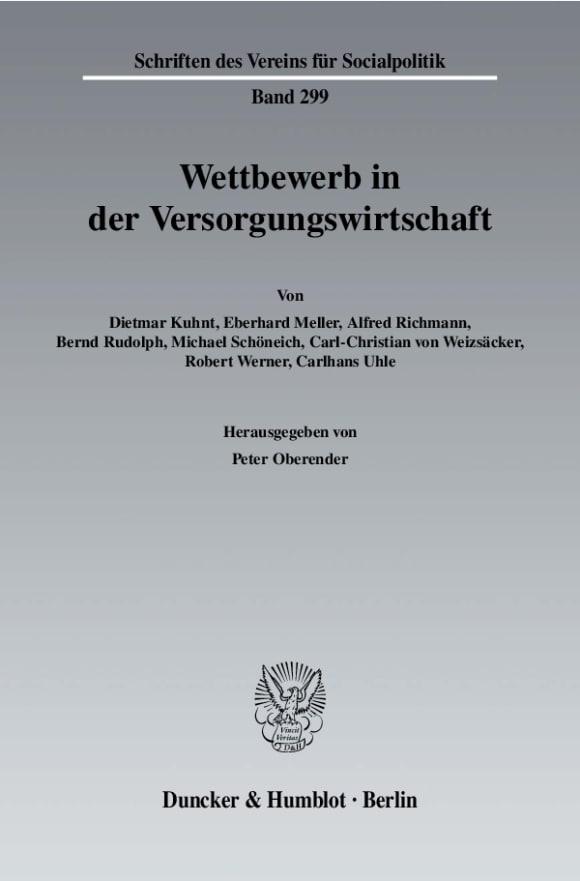 Cover Wettbewerb in der Versorgungswirtschaft