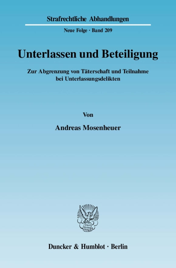 Cover Unterlassen und Beteiligung