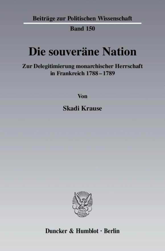 Cover Die souveräne Nation