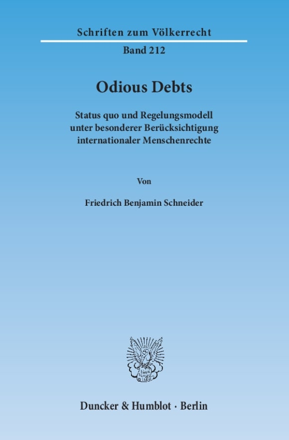 Cover Odious Debts
