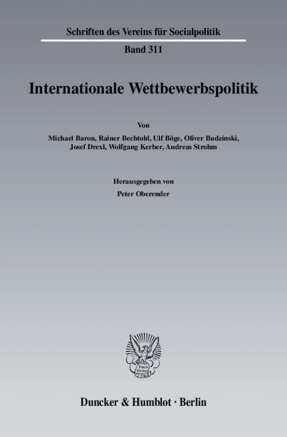 Cover Internationale Wettbewerbspolitik