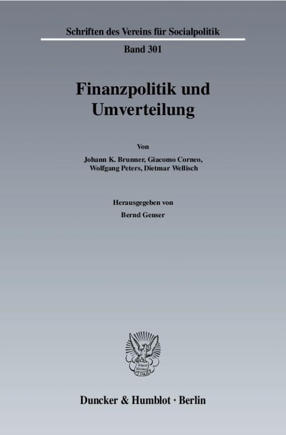 Cover Finanzpolitik und Umverteilung