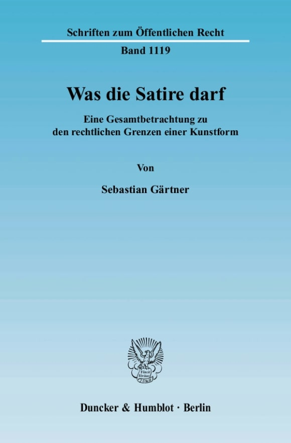 Cover Was die Satire darf