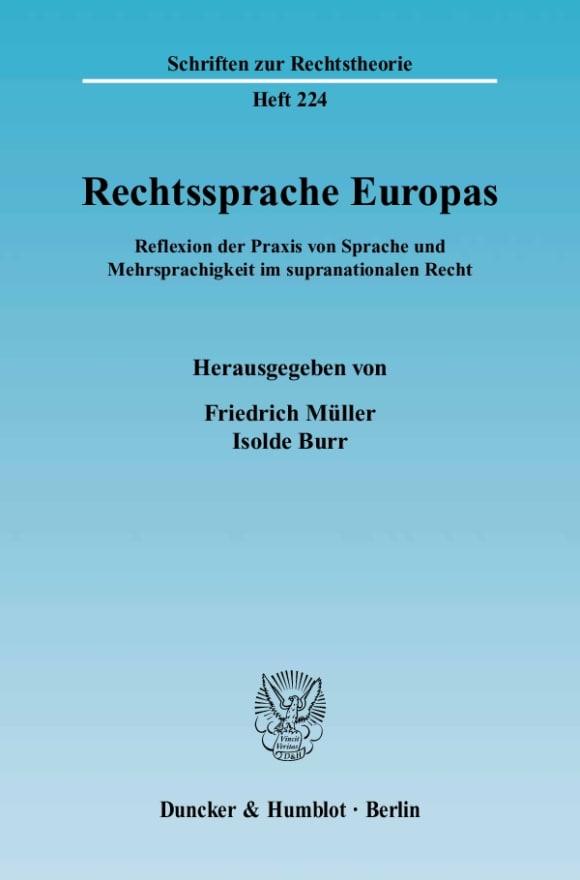 Cover Rechtssprache Europas